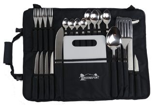 Camp Kitchen Utensil Set W Roll